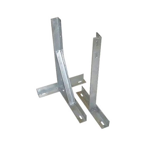 """TK-12 - 12"""" Galvanised T and K Wall Bracket (with Bolts)"""